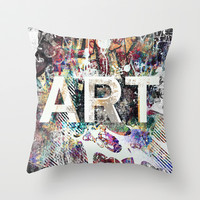 Graffiti Is ART Throw Pillow by Pixel Pop