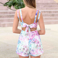 WAIT FOR ME PLAYSUIT , DRESSES, TOPS, BOTTOMS, JACKETS & JUMPERS, ACCESSORIES, 50% OFF SALE, PRE ORDER, NEW ARRIVALS, PLAYSUIT, COLOUR, GIFT VOUCHER,,Pink,Blue,Print,Purple,SLEEVELESS,MINI Australia, Queensland, Brisbane