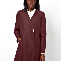 ASOS Coat With Metallic Texture