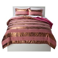 Xhilaration® Distressed Metallic Stripe Comforter Set