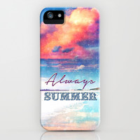 Always Summer - for iphone iPhone & iPod Case by Simone Morana Cyla