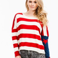 Starstruck Striped Flag Sweater