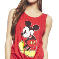 Classic Mickey Side Tie Tank | Wet Seal