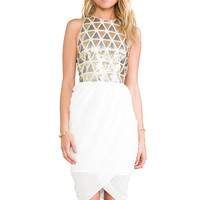 Lumier Blessing In Disguise Mini Dress in White & Gold & Silver from REVOLVEclothing.com