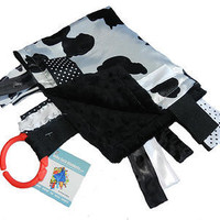 Baby Jack Blankets Satin Cow Spots Lovie