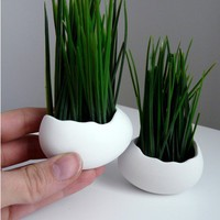 Egg Sprouts Set of 2 Porcelain Egg Shells & by Revisions on Etsy