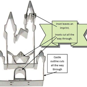 Detailed Castle Cookie Cutter Great for Princess Parties