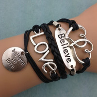 Believe in Love Bracelet Set from P.S. I Love You More Boutique