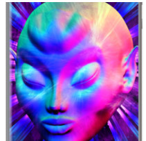 Psychedelic Alien Meditation By BluedarkArt for Apple iPhone 5/5s