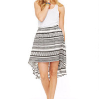 Aztec High-Low Skirt