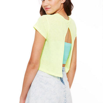 Split Back Short-Sleeve -
