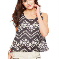 Split Back Daisy Tank