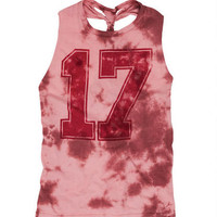 Tie-Dye 17 Braid Back Tank