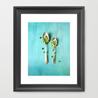 Give Peas a Chance Framed Art Print by Olivia Joy StClaire