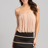 Strapless Semi Formal Dress