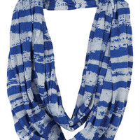 Burnout Stripe Infinity Scarf