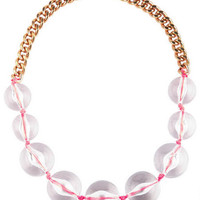 Neon Cord Bead Necklace