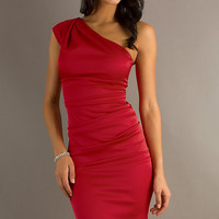 Short One Shoulder Dress by Sally Fashions