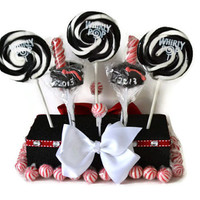 Graduation Lollipop Centerpiece, Graduation Centerpiece, Customizable Graduation, Lollipop Centerpiece, Candy Centerpiece, Graduation Candy