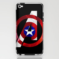 Captain America Avengers iPhone & iPod Skin by Foreverwars