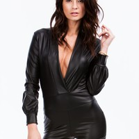 Sleek Your Mind Plunging Romper