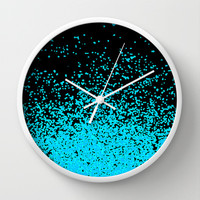 torquoise adventure Wall Clock by Marianna Tankelevich