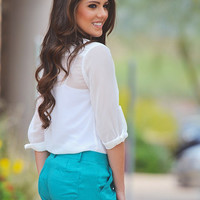 Weekends At The Country Club Shorts - Teal