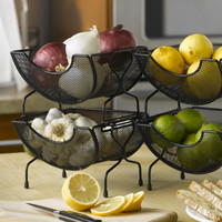 Nifty Home Products Mesh Stacking Utility Baskets