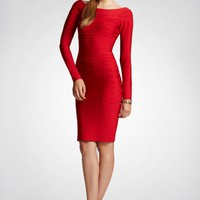 Bqueen Boat-Neck Red Bandage Dress H035R #red#dress #bodycon #bandage #sexy #partydress #chic #clubdress #boatneck