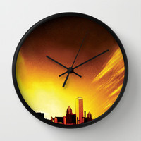City of Illusions Wall Clock by Texnotropio