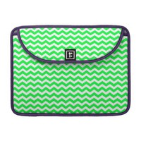 Neon Green Chevron Pattern Macbook Pro Sleeve