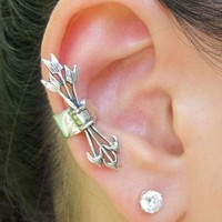 Antique Arrow Set Fashion Ear Cuff (Single, No Piercing)