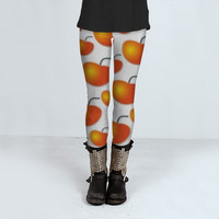 Orange Pattern by Daniel Ferreira-Leites (Leggings)