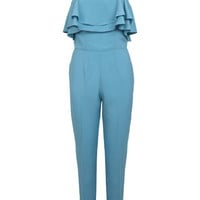 Blue Gold Strap Jumpsuit - Playsuits & Jumpsuits - Clothing