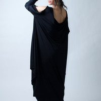 NEW - Black Oversize Kaftan Dress or Long Tunic Top - Donation to UNICEF - Model 73