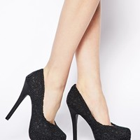 New Look Popper Crochet Heeled Shoes