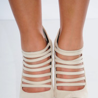 Love Spun Heels: Cream | Hope's