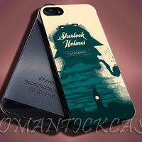 Sherlock Holmes - iPhone 4/4s/5c/5s/5 Case - Samsung Galaxy S3/S4 Case - Black or White