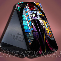 Maleficent Pattern Sleeping Beauty Glass - iPhone 4/4s/5c/5s/5 Case - Samsung Galaxy S3/S4 Case - Black or White