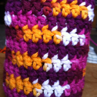 Crochet Multicolor Soda/Beer Can Cozy