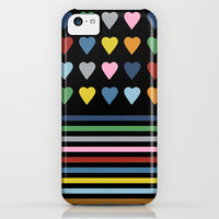 Heart Stripes Black iPhone & iPod Case by Project M