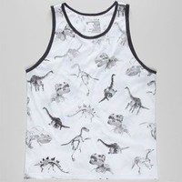 Blue Crown Dino Mens Tank White  In Sizes