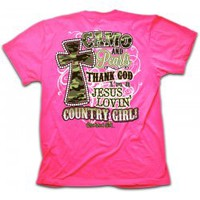 Cherished Girl Camo and Pearls Christian T-Shirt