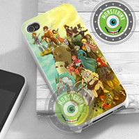 Studio Ghibli Design - iPhone 4/4s/5/5S/5C Case - Samsung Galaxy S2/S3/S4 Case - Black or White