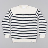 Norse Projects Sigfred Roll Linen Cotton Knit - Birch