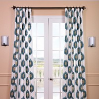 Half Price Drapes Mayan Printed Cotton Rod Pocket Curtain Single Panel