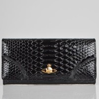 Vivienne Westwood Frilly Snake Purse 2800 - Black