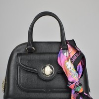 Moschino Large saffiano Bowling Bag - Black