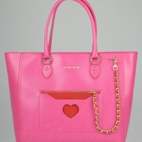Moschino Large Fabric Bag - Pink