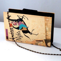 Arabian Nights - Aesop's Fables Book Purse With Chain Strap